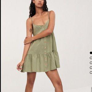 Zara - mini green flowy dress - NWT